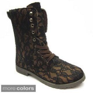 Blue Women's 'Millie' Lace-up Sneaker Boots