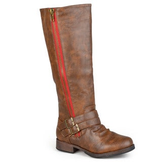 Journee Collection Women's 'Lady' Regular and Wide-calf Side-zipper Buckle Knee-high Riding Boot