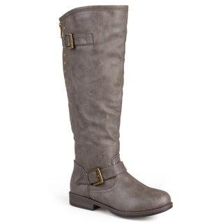 Journee Collection Women's 'Spokane' Regular and Wide-calf Studded Knee-high Riding Boot