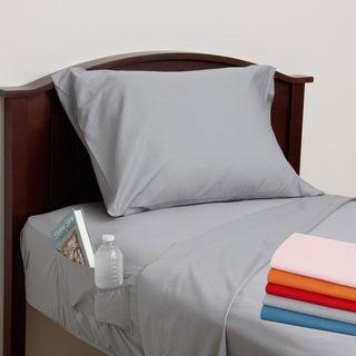 Cotton Percale Side Pocket Sheet Set