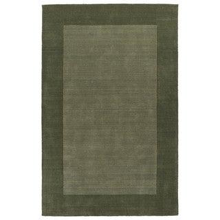 Borders Hand-Tufted Fern Wool Rug (9'6 x 13'0)