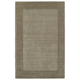 Borders Hand-Tufted Taupe Wool Rug (9'6 x 13'0)