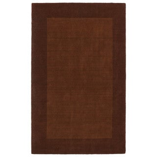 Borders Hand-Tufted Copper Wool Rug (9'6 x 13'0)