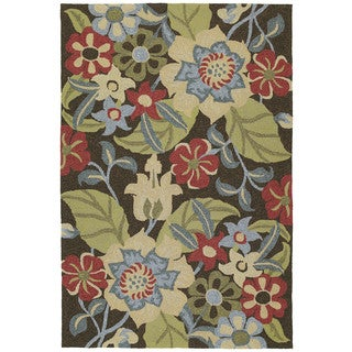 Seaside Chocolate Garden Indoor/Outdoor Rug (9'0 x 12'0)
