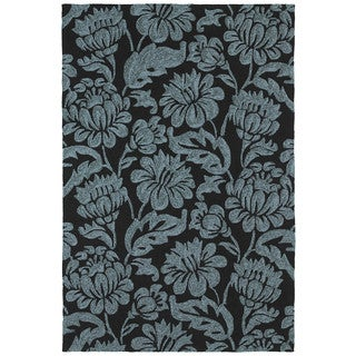 Seaside Black Garden Indoor/Outdoor Rug (9'0 x 12'0)