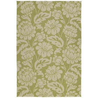Seaside Green Garden Indoor/ Outdoor Rug (10' x 14')