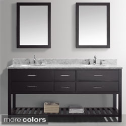 Virtu USA Caroline Estate 72-Inch Double Sink Bathroom Vanity Set