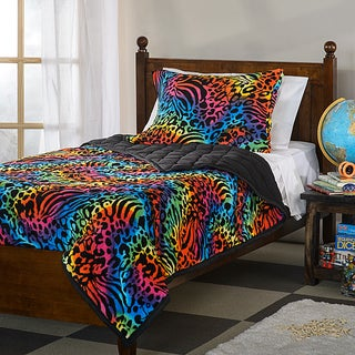Psychedelic Animal Microplush 3-piece Comforter Set