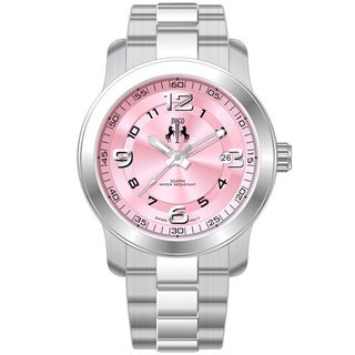 Jivago Women's Infinity Stainless Steel and Pink Dial Watch