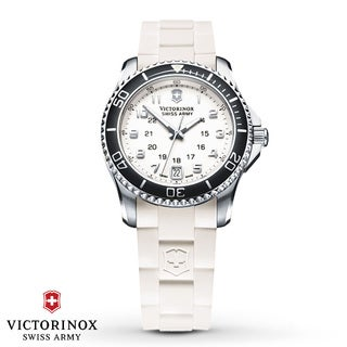 Swiss Army Women's Maverick GS White Dial Black Bezel Watch - 241491