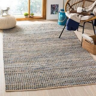 Safavieh Hand-woven Cape Cod Natural/ Blue Jute Rug (8' x 10')
