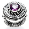 The Samuel B. Collection Sterling Silver Amethyst Bezel Set Round Ring