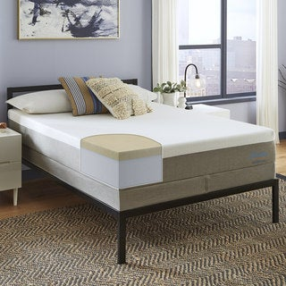 """Affordable 13-Inch KING RV/Camper Memory Foam Mattress With 4"""" Of Medium-Firm Visco Elastic Memory Foam With 2 Free GEL Pillows"""