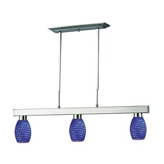 Players Blue Glass 3-light Fixture