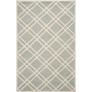 Safavieh Handmade Moroccan Chatham Gray/ Ivory Wool Rug with 0.5-Inch Pile (8'9 x 12')