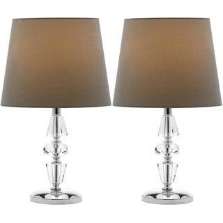 Safavieh Indoor 1-light Crescendo Green Shade Tiered Crystal Table Lamp (Set of 2)
