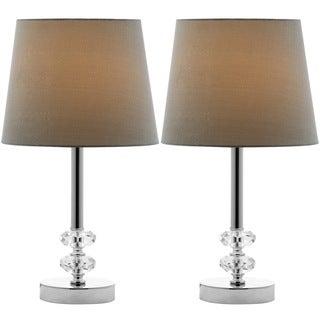 Safavieh Indoor 1-light Ashford Green Shade Crystal Orb Table Lamp (Set of 2)