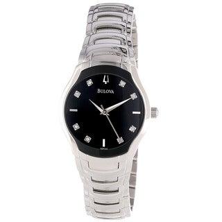 Bulova Women's Stainless Steel Diamond Dial Watch