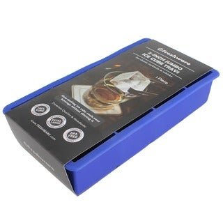 Freshware Blue 8-cavity Jumbo 2-inch Cube Silicone Ice Tray