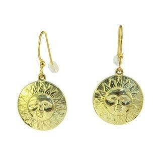 Brass Sun Hoop Earrings (Indonesia)