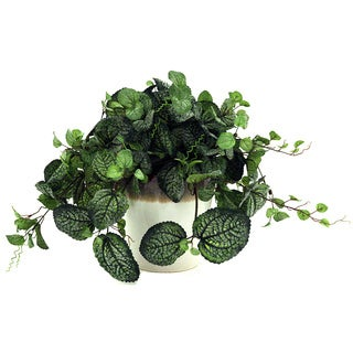 15-inch Silk Frosted Greenery and Ceramic Container