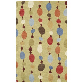 Manhattan Hand-tufted Multi Strings Modern Wool Rug (8' x 11')