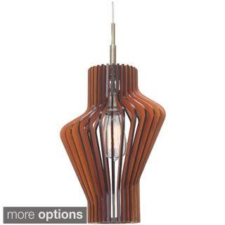 Canopy 1-light Escher Wood Slat Mini Pendant