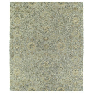 Christopher Kashan Light Blue Hand-tufted Rug (5'0 x 7'9)