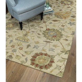 Christopher Kashan Sand Hand-tufted Rug (9'0 x 12'0)