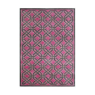 Alliyah Handmade Magenta New Zealand Blend Wool Rug (5' x 8')