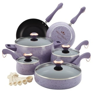 Paula Deen Lavender 15-piece Signature Porcelain Cookware Set **With $20 Mail-in Rebate**