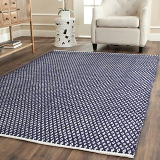Safavieh Handmade Boston Navy Cotton Rug (9' x 12')