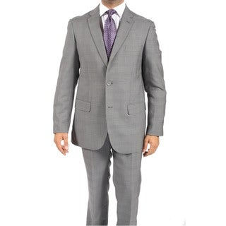 Zonettie by Ferrecci Slim Fit Hughes Sand Grey 2-piece Suit