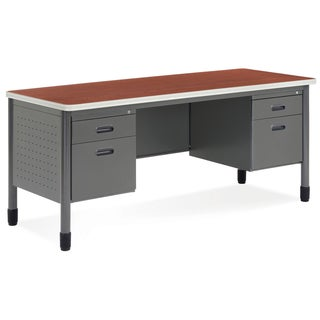OFM Cherry Top Double Pedestal Credenza