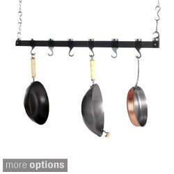 Concept Housewares 36-inch Color Acrylic Dual Track Ceiling Pot Rack