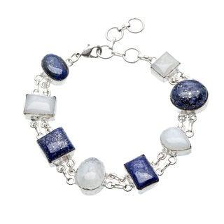 Sitara Handmade Silverplated Multi-Gemstone Bracelet (India)