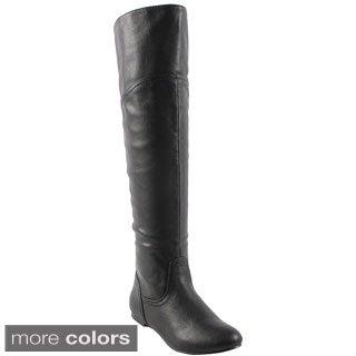 Bonnibel Womens' 'Bianca-1N' Over-the-Knee Collar Boots