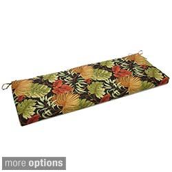 Blazing Needles Tropical/ Stripe 54 x 19-inch Outdoor Spun Poly Bench Cushion