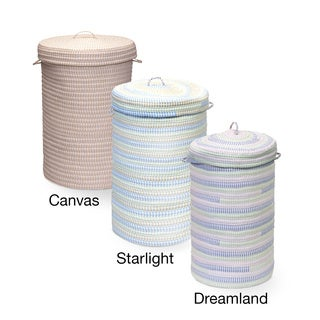 Colonial Mills Ticking Fabric Hamper