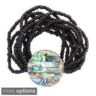 Bead Bracelet with Paua Shell (Indonesia)