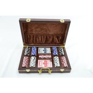 Complete Poker Set with Velvet Interior Case