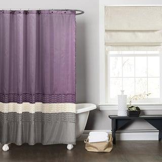 Lush Decor Mia Purple/ Grey Shower Curtain