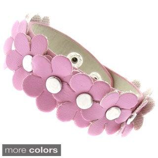 Molly and Emma Imitation Leather Children's Flower Bracelet