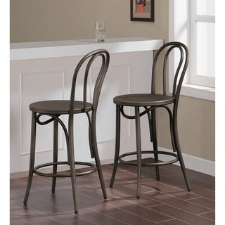 Cafe Dark Vintage Metal Counter Stools (Set of 2)