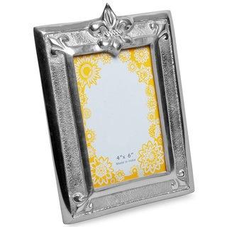 Fleur-de-lis Aluminum 4x6-inch Frame