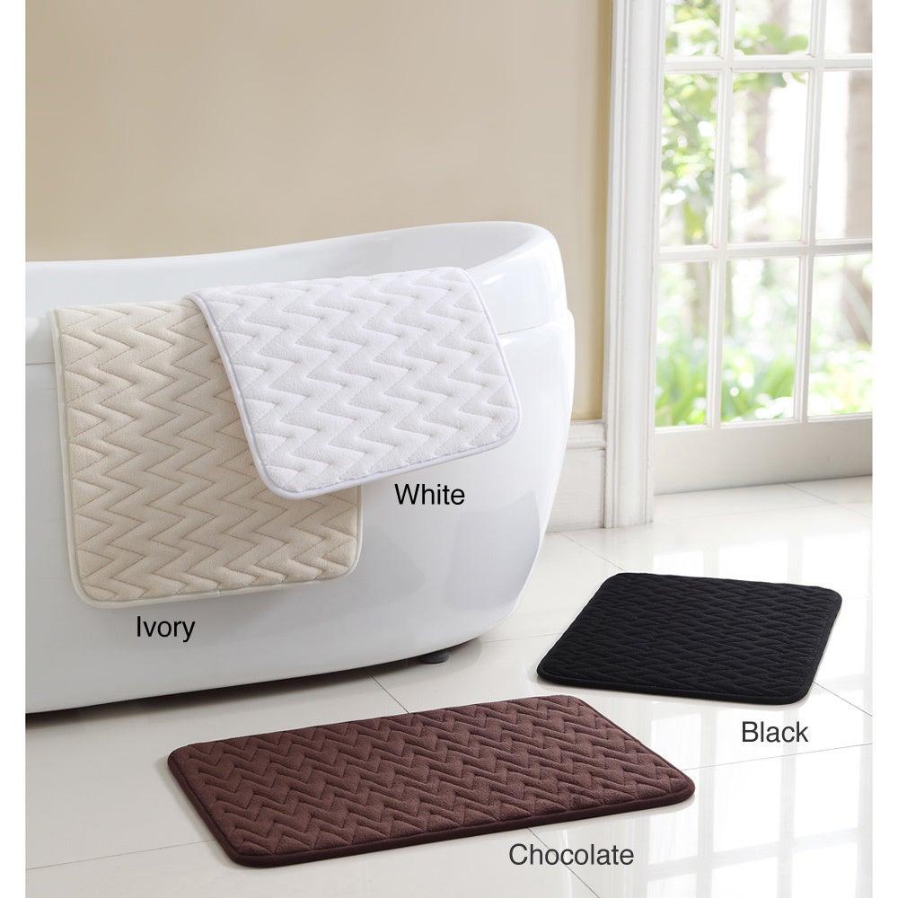 Bath Mat Sets White : Zigzag memory foam bath mat set of overstock