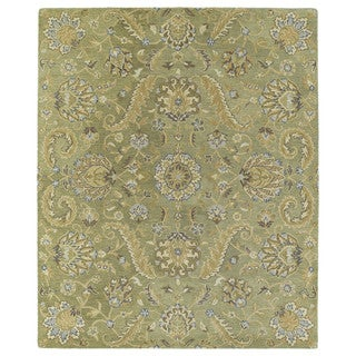 Christopher Kashan Hand-tufted Green Rug (8' x 10')