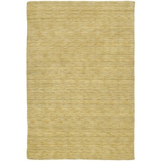 Gabbeh Hand-tufted Yellow Rug (9'6 x 13')