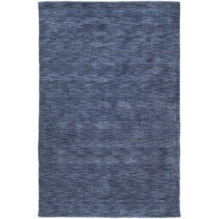 Gabbeh Hand-tufted Blue Rug (9'6 x 13')