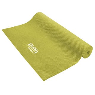 Pure Fitness Limey Yellow Yoga Mat